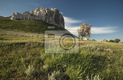 Landscape with high cliffs