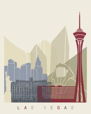 Sticker Las Vegas skyline poster
