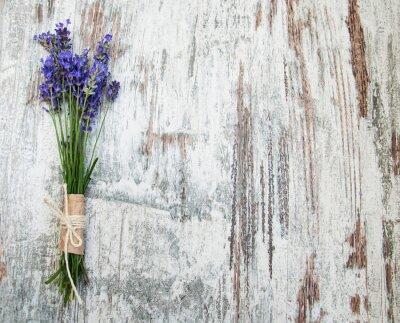 Sticker lavender flowers