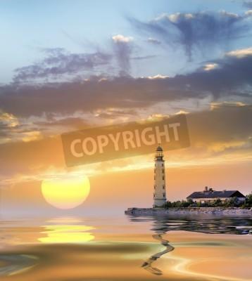 Sticker lighthouse