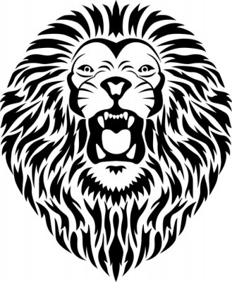 Sticker Lion head tattoo