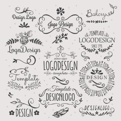 Sticker Logo design with hand sketched elements