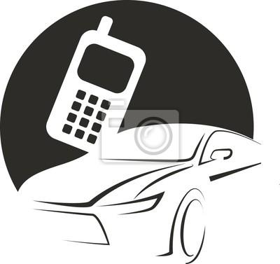logo icon car phone