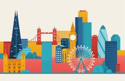 Sticker London city illustration.