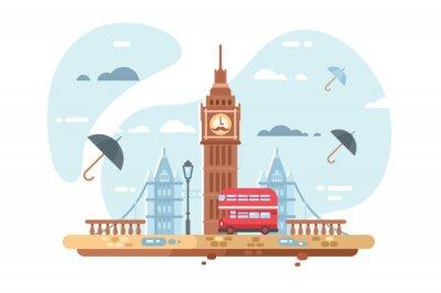 Sticker London city skyline