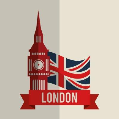 Sticker london icon design