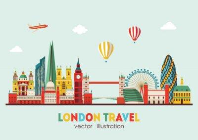Sticker London Skyline abstract. Vector illustration - stock vector