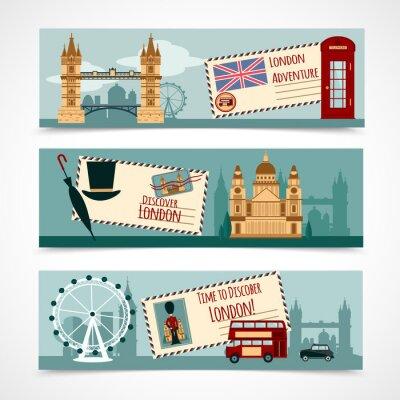 Sticker London Touristic Banner Set