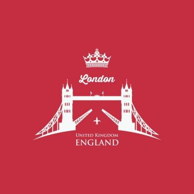 Sticker London Tower Bridge symbol