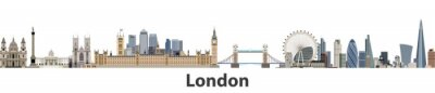 Sticker London vector city skyline