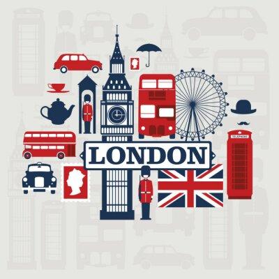 Sticker London vector set