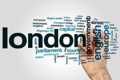 Sticker London word cloud