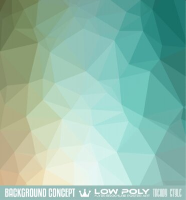 Sticker Low Poly Art background for your polygonal flyer