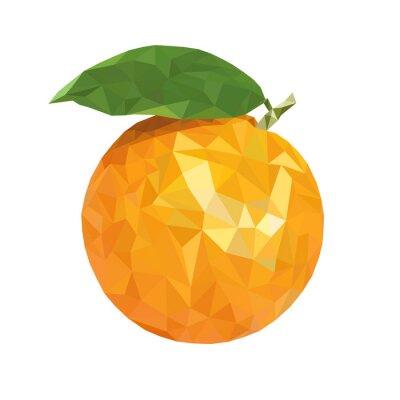 Sticker Low poly orange