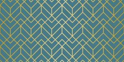 Sticker Luxury Geometric Pattern. Seamless Vector Lines. Golden Look.