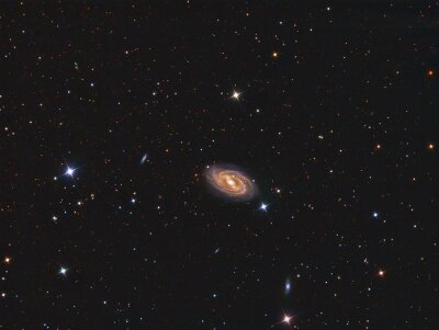 Sticker M109 Galaxy imaged with a telescope and a scientific CCD camera