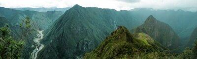 Sticker Machu Picchu panoramic
