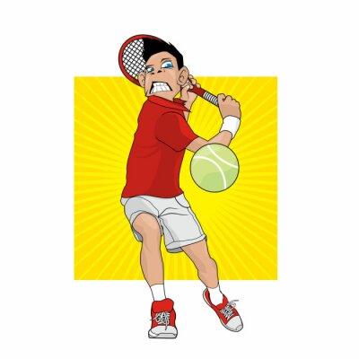 Sticker Mad Tennis Player