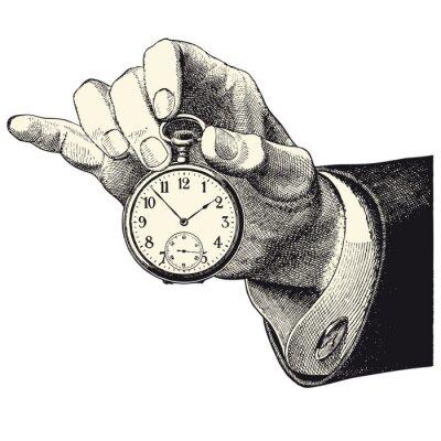 Sticker Main d'homme tenant une montre