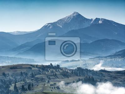 Majestic view of great ukrainian mountains
