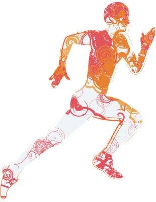 Sticker man running