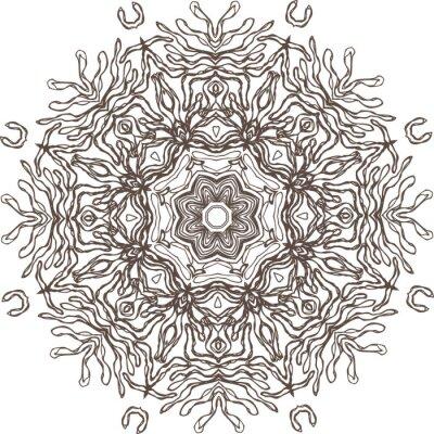 Sticker Mandala ethnic indian illustration design