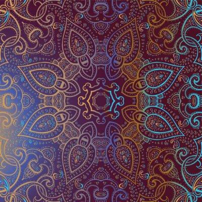 Sticker Mandala. Indian decorative pattern.