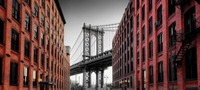 Sticker Manhattan Bridge from Washington Street, Brooklyn