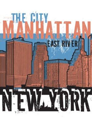 Sticker Manhattan, New York city