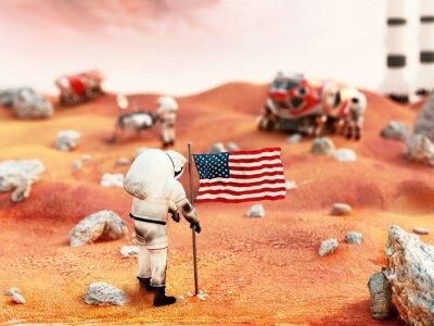 Sticker Manned Mars mission