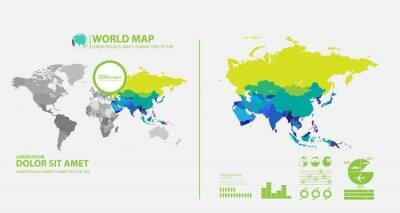 Sticker map infographic