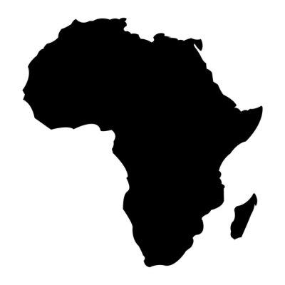 Sticker Map of Africa