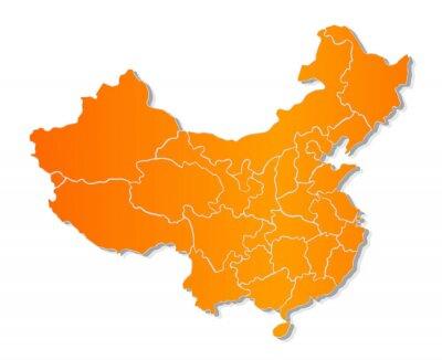 Sticker Map of China