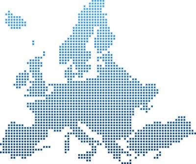 Sticker map of Europe