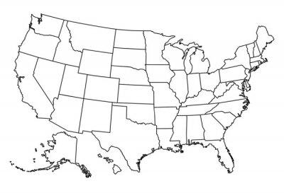 Sticker Map of USA