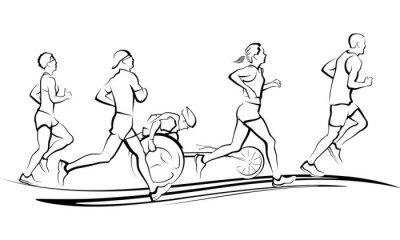 Sticker Marathon Runners