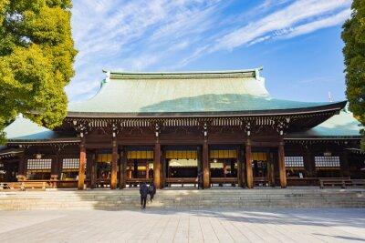 Sticker Meiji-jingu shrine in Tokyo, Japan
