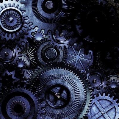 Sticker metallic gears background
