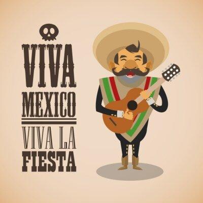 Sticker Mexican culture design