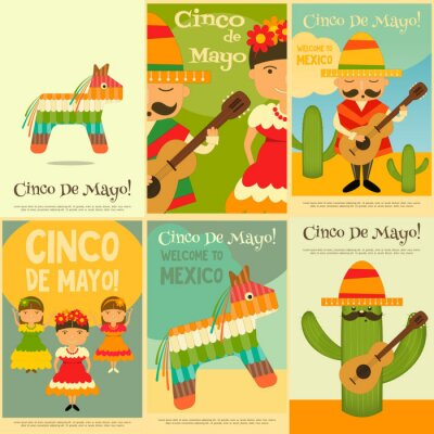 Sticker Mexican Posters