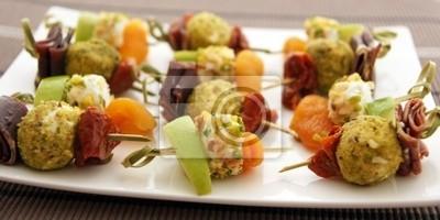 Mini skewers appetizing