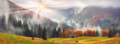 Sticker Misty autumn Transcarpathia