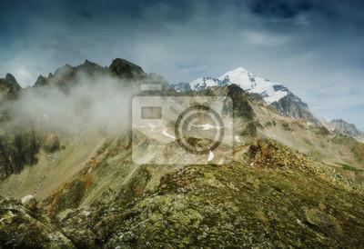 Misty Georgian mountains