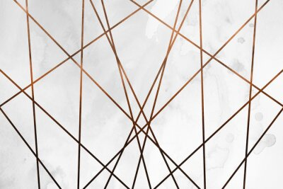 Sticker Modern contemporary creamy copper background. Luxury girlish texture. Delicious and clean backdrop with geometric and artistic elements.