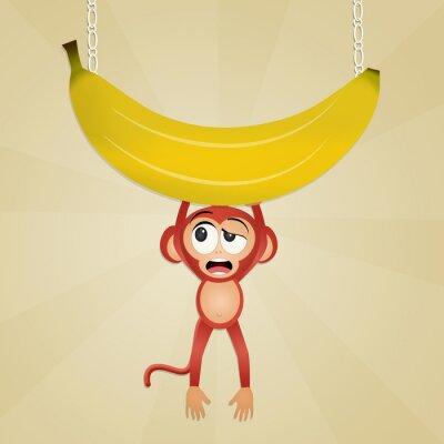 Sticker monkey with banana