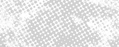 Sticker Monochrome grunge background of spots halftone