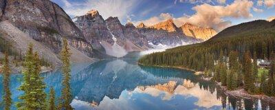 Sticker Moraine Lake at sunrise, Banff National Park, Canada
