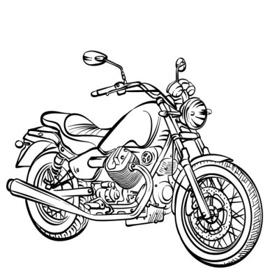 Sticker Motorcycle classic