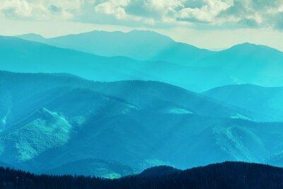 Sticker Mountain range  in summer