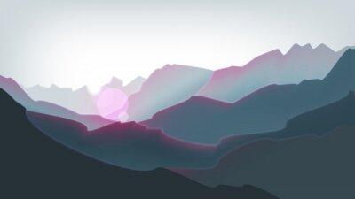 Sticker Mountains peak and beautiful sunrise